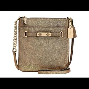 Swingpack Swagger Brass Gold Leather Crossbody